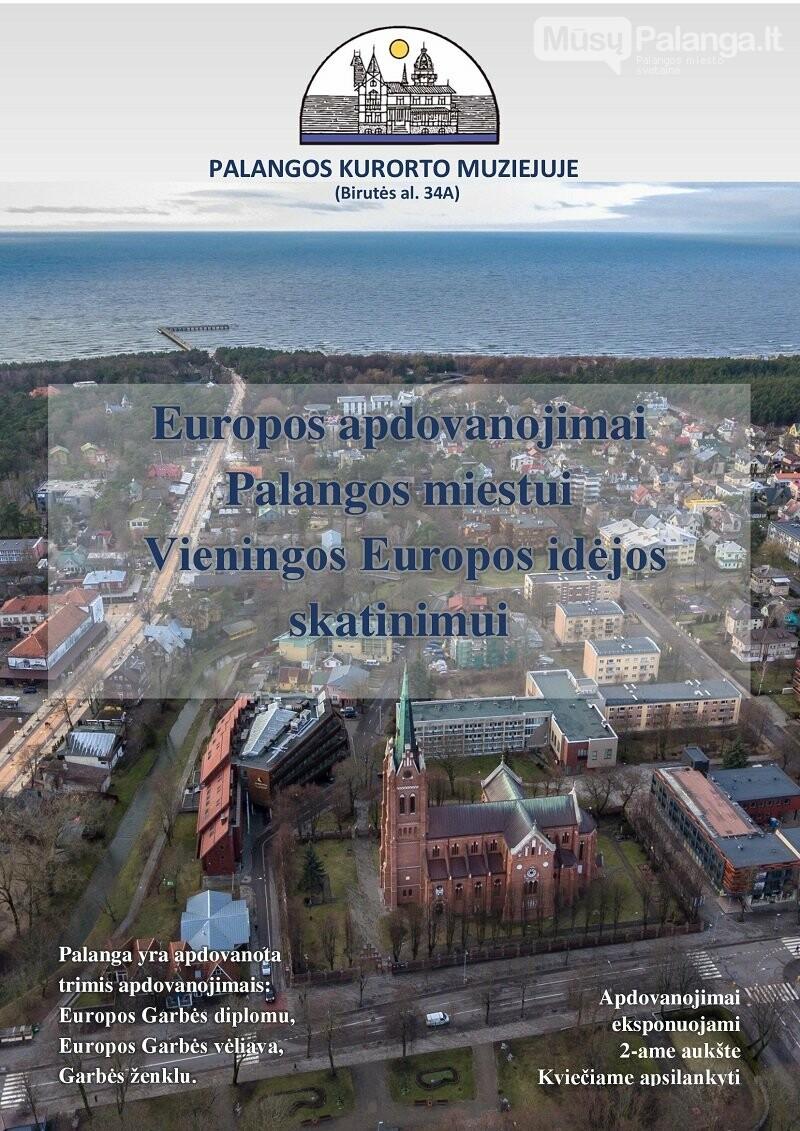 Kurorto muziejuje visuomenei pristatomas Palangai skirti Europos apdovanojimai už vieningos Europos idėjos skatinimą, nuotrauka-1
