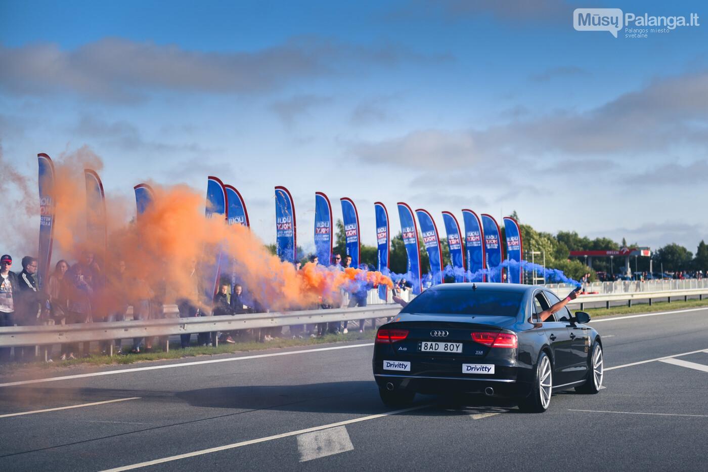 """Traukos lenktynėse Palangoje greičiausi – """"Nissan GT-R"""" automobiliai, nuotrauka-11"""