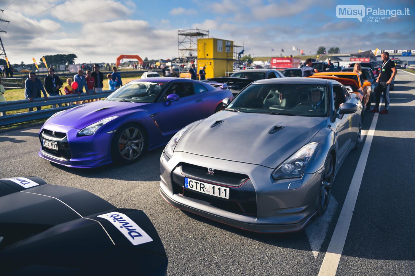 """Traukos lenktynėse Palangoje greičiausi – """"Nissan GT-R"""" automobiliai, nuotrauka-48"""