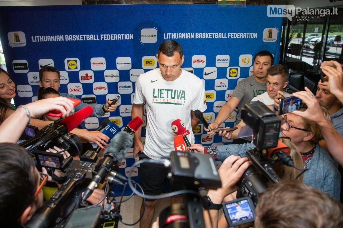 Lietuvos vyrų krepšinio rinktinė susirinko į treniruočių stovyklą Palangoje, nuotrauka-4