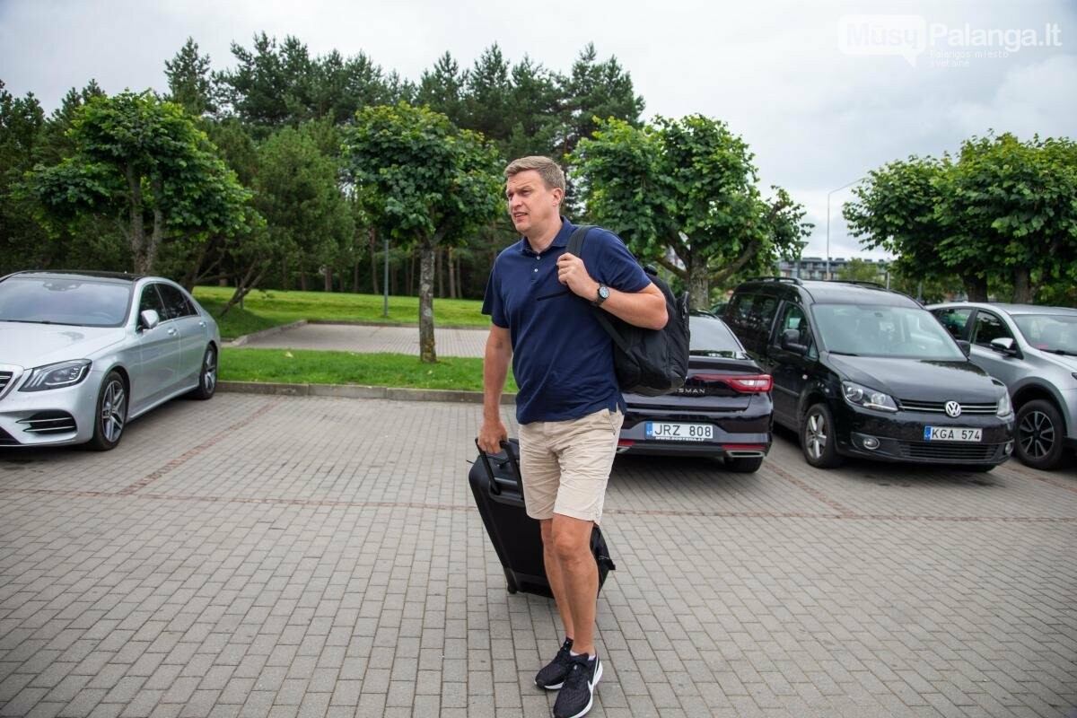 Lietuvos vyrų krepšinio rinktinė susirinko į treniruočių stovyklą Palangoje, nuotrauka-1