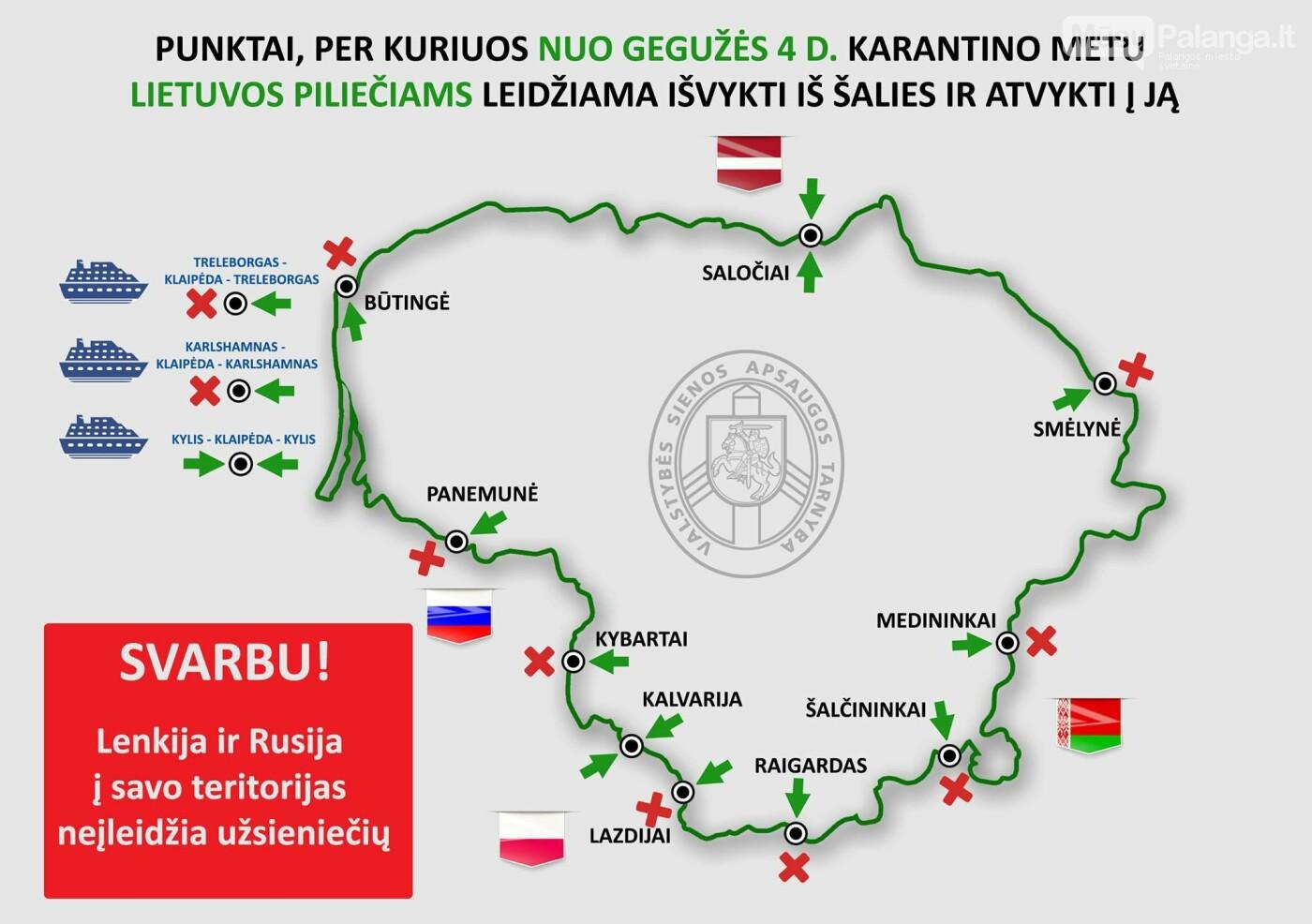Svarbi informacija apie išvykimo iš Lietuvos karantino laikotarpiu išimtis, nuotrauka-1