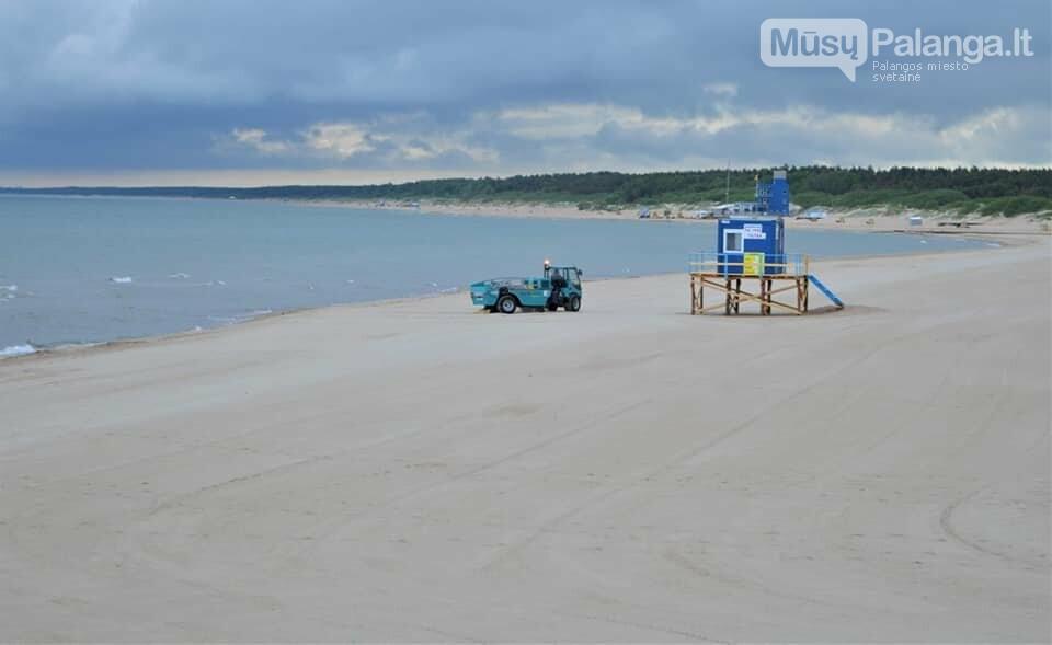 Platūs Palangos paplūdimai poilsiautojų laukia nuo ankstyvo ryto, nuotrauka-1