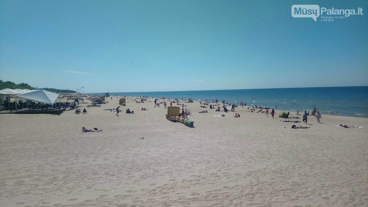 Platūs Palangos paplūdimai poilsiautojų laukia nuo ankstyvo ryto, nuotrauka-4