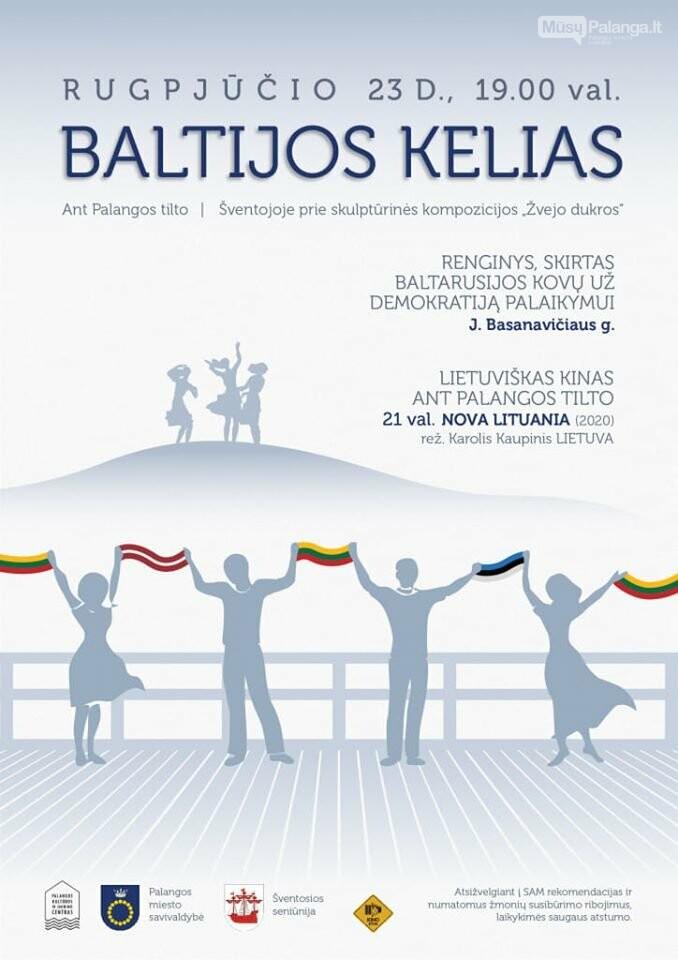 Rugpjūčio 23 d. - Baltijos kelio renginys, skirtas ir Baltarusijos kovoms už demokratiją palaikyti, nuotrauka-1