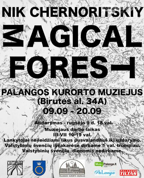 """Palangos kurorto muziejuje atidaroma jaunosios kartos dailininko Nikitos Černorickij paroda """"Stebuklingas miškas"""", nuotrauka-1"""