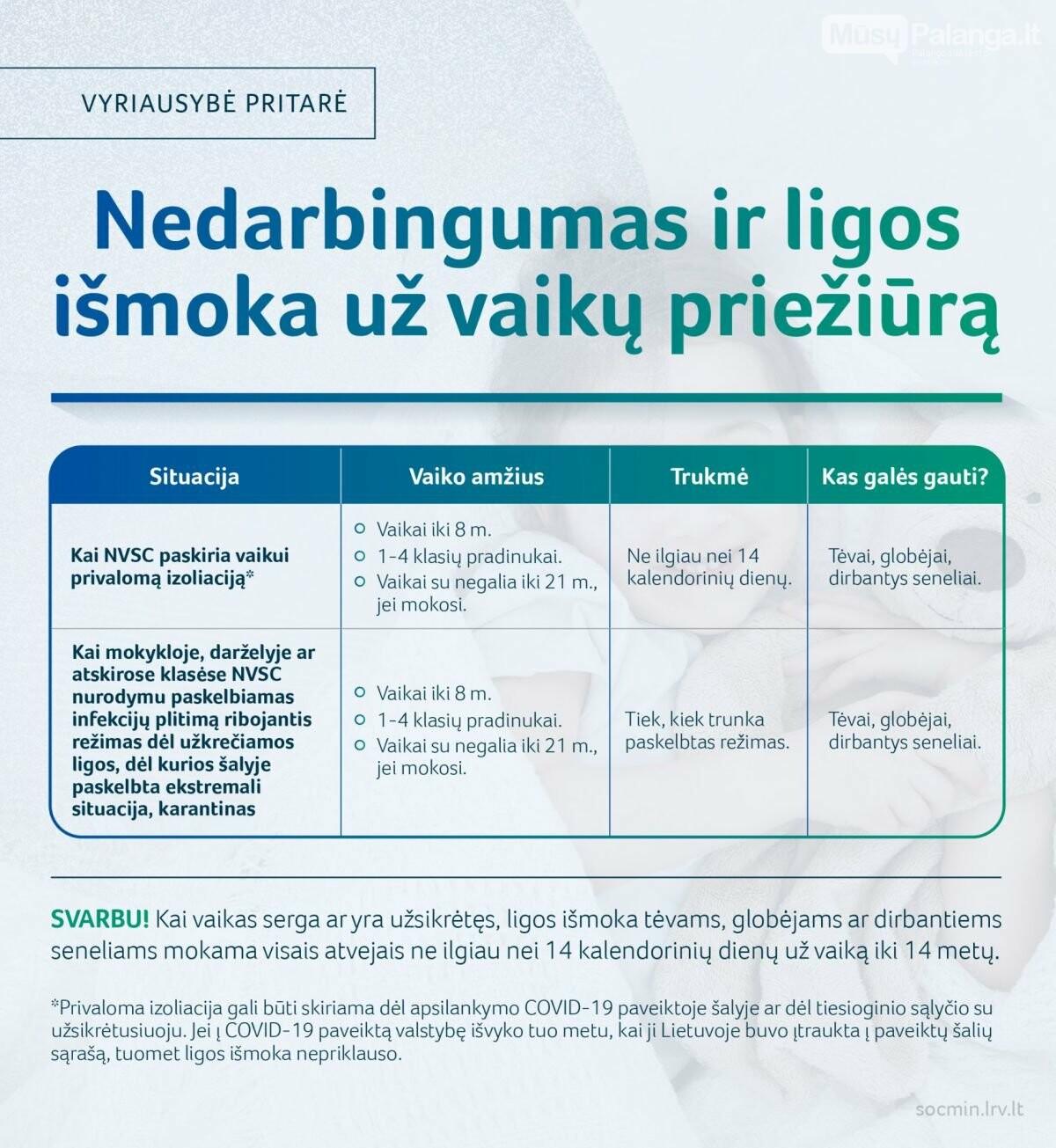 Vyriausybė pritarė mokėti ligos išmoką, jeigu nesergančiam vaikui paskiriama privaloma izoliacija, nuotrauka-1