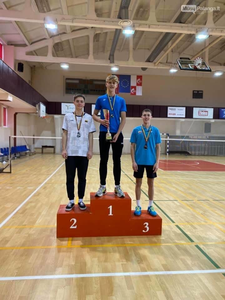Iš Lietuvos jaunių iki 19 metų asmeninio badmintono čempionato Palangai parvežė sidabrą ir bronzą, nuotrauka-2