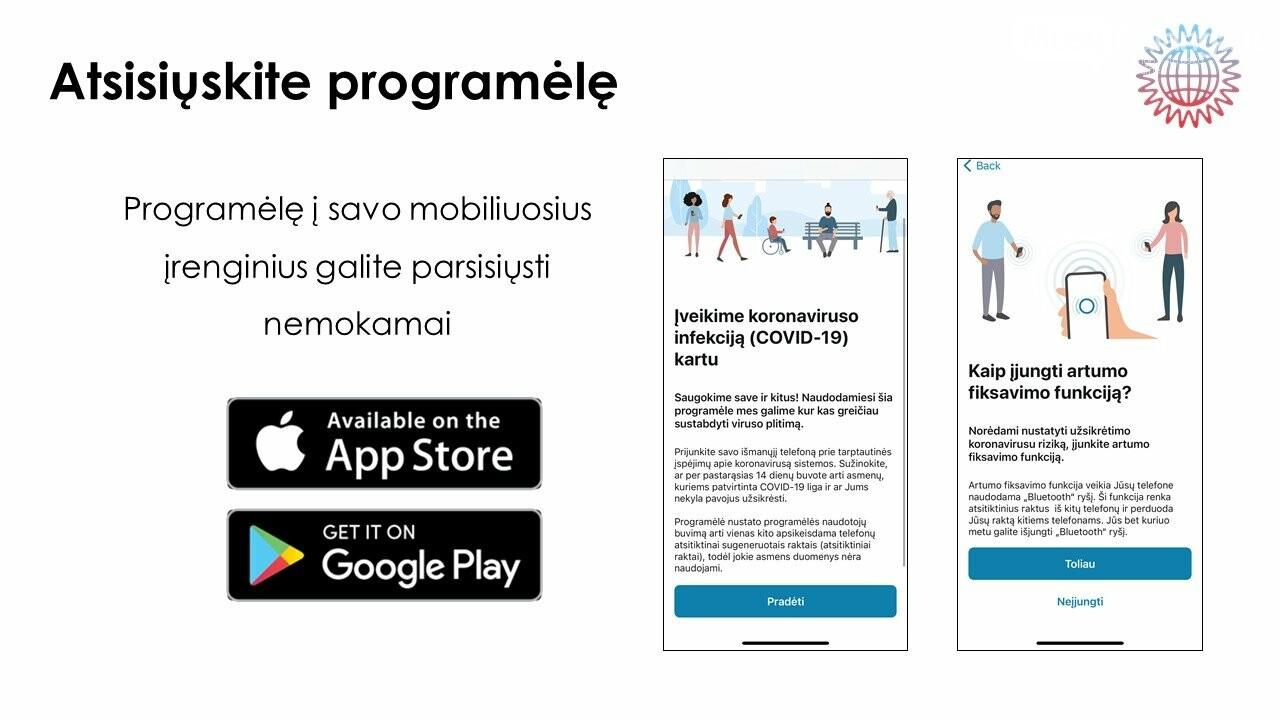 Stabdyti viruso plitimą Lietuvoje padės mobilioji programėlė, nuotrauka-1