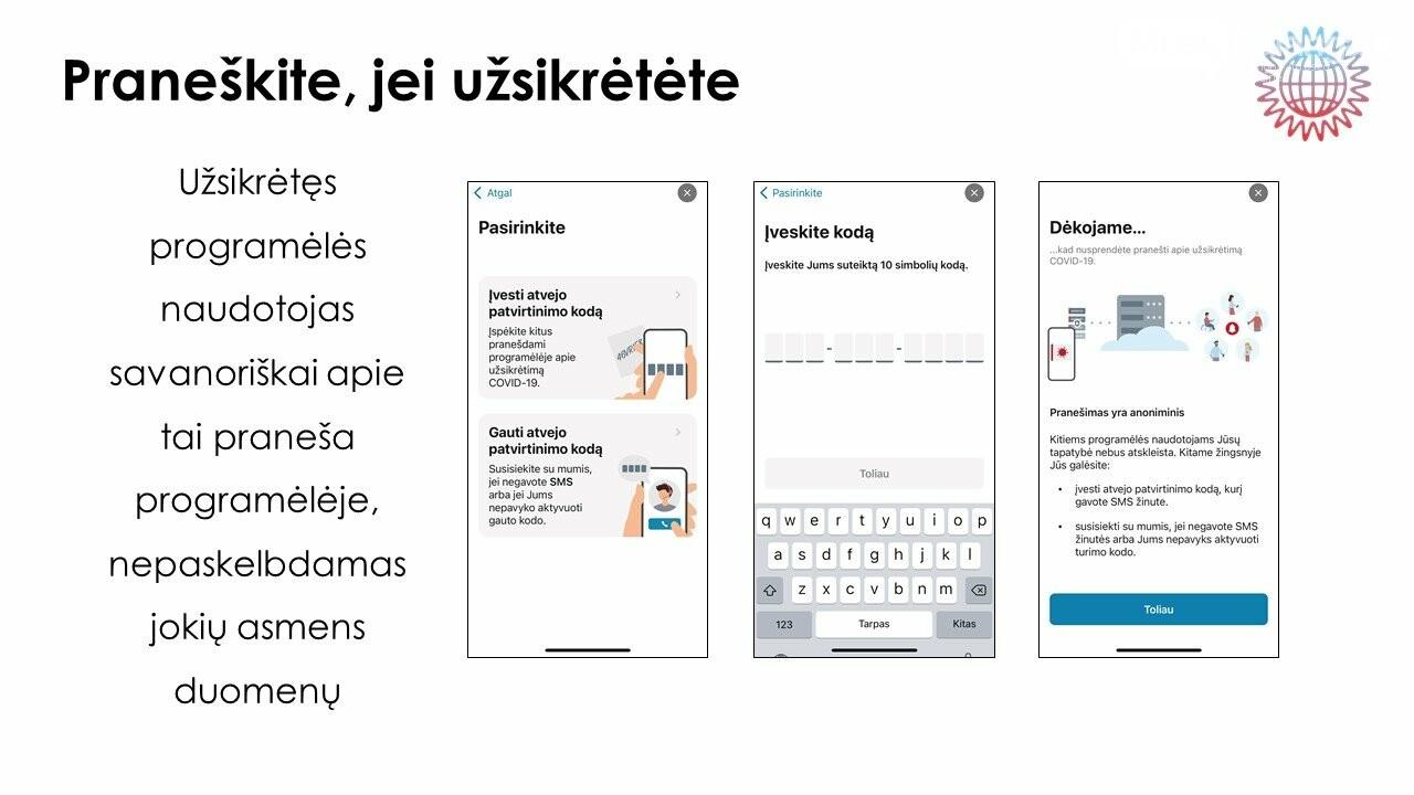 Stabdyti viruso plitimą Lietuvoje padės mobilioji programėlė, nuotrauka-3