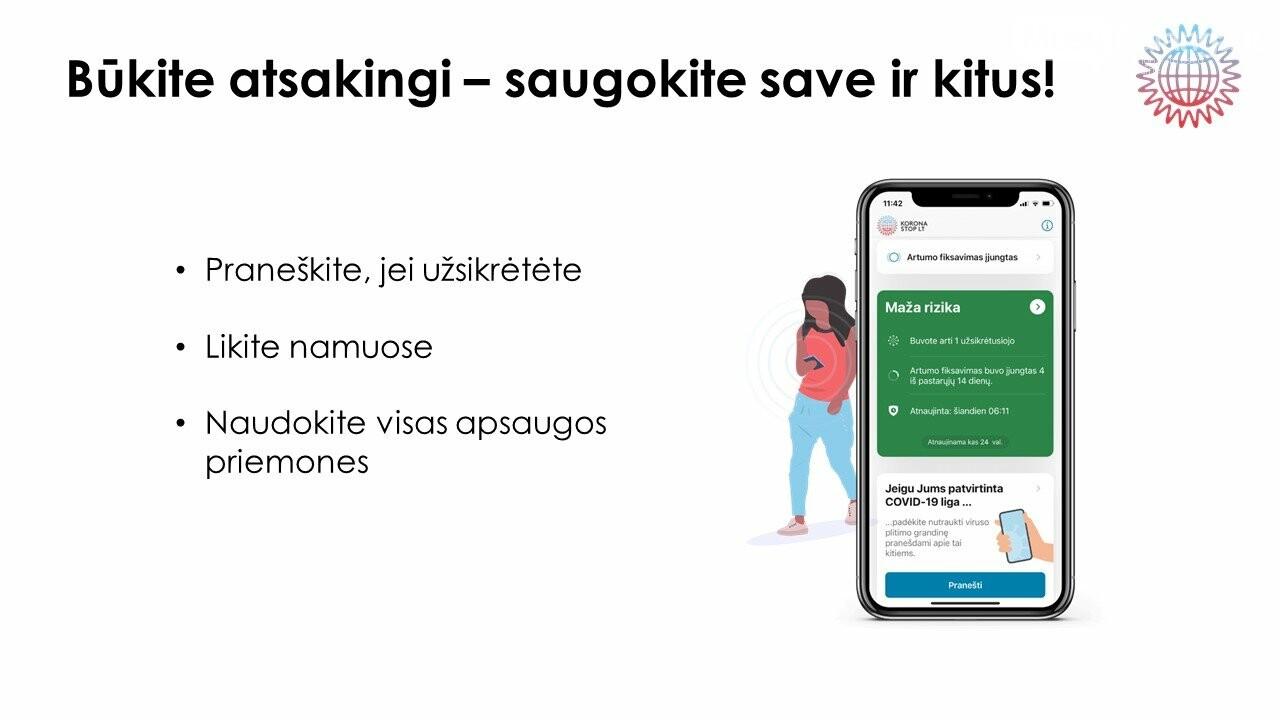 Stabdyti viruso plitimą Lietuvoje padės mobilioji programėlė, nuotrauka-5