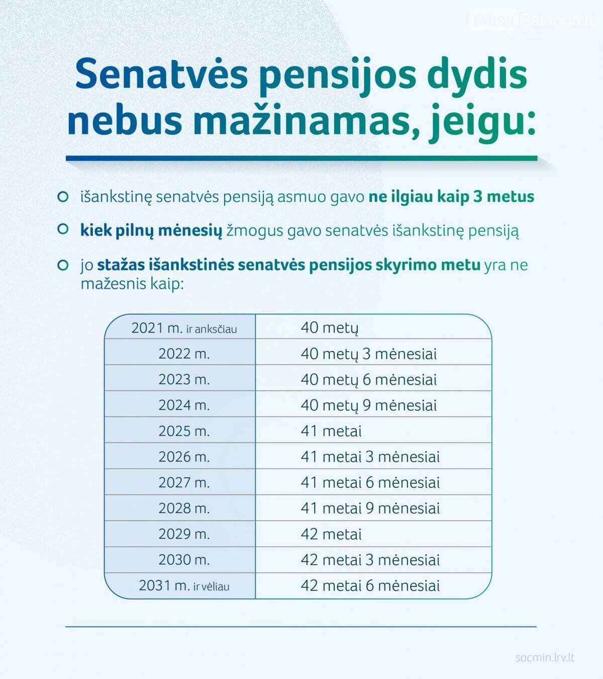 Aktualu išankstinių pensijų gavėjams: nuo kitų metų didės išankstinės pensijos, nuotrauka-2