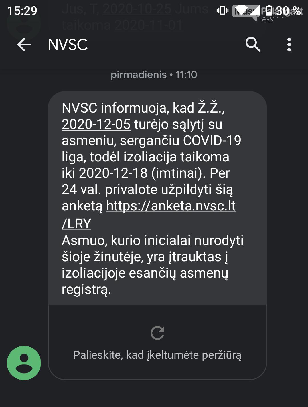 SVARBU! NVSC perspėja apie melagingas trumpąsias SMS žinutes, nuotrauka-1