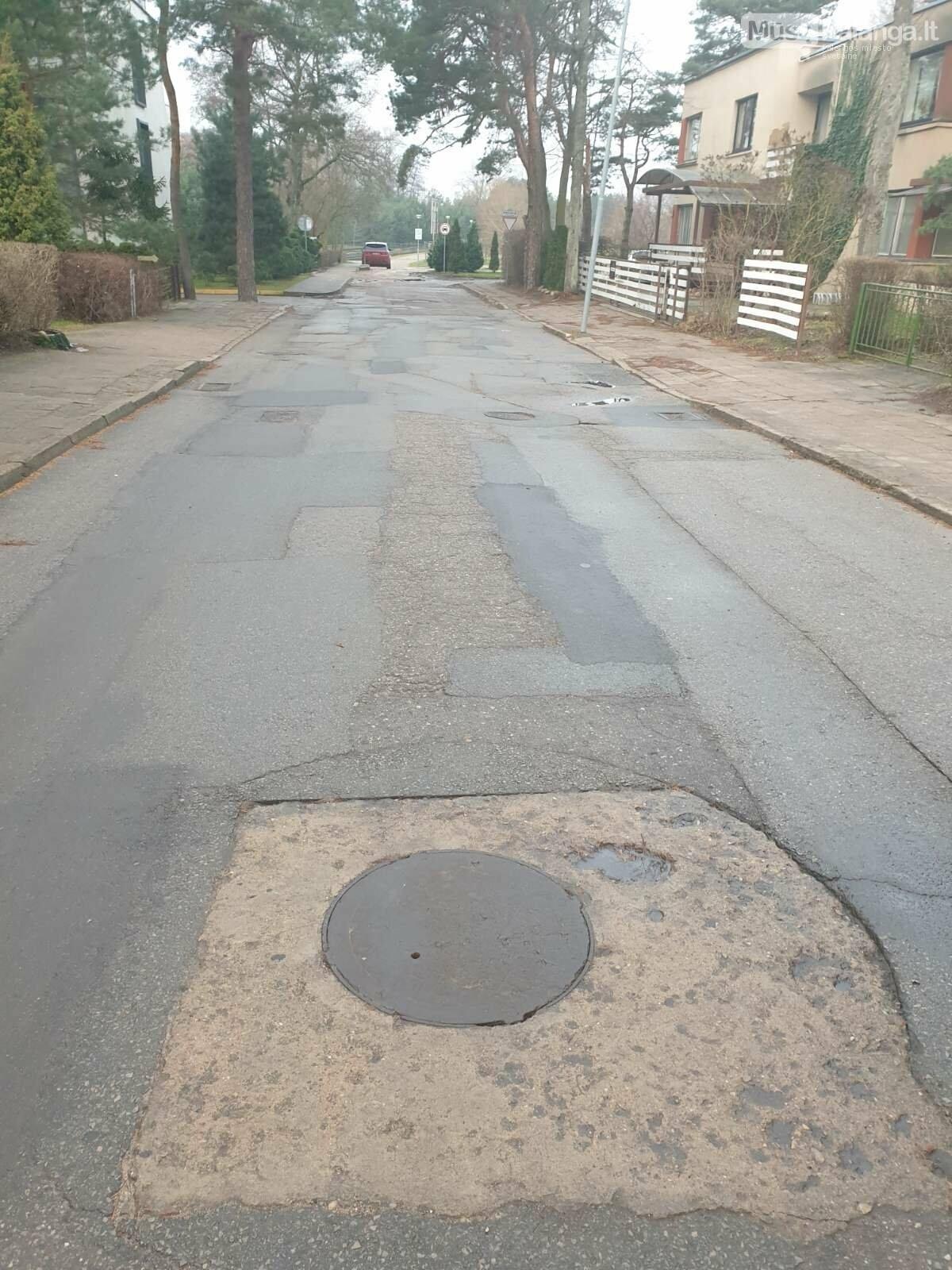 Ragina Palangos valdžią pagaliau pradėti tvarkyti S. Nėries gatvę, nuotrauka-2, Gyventojų nuotr.