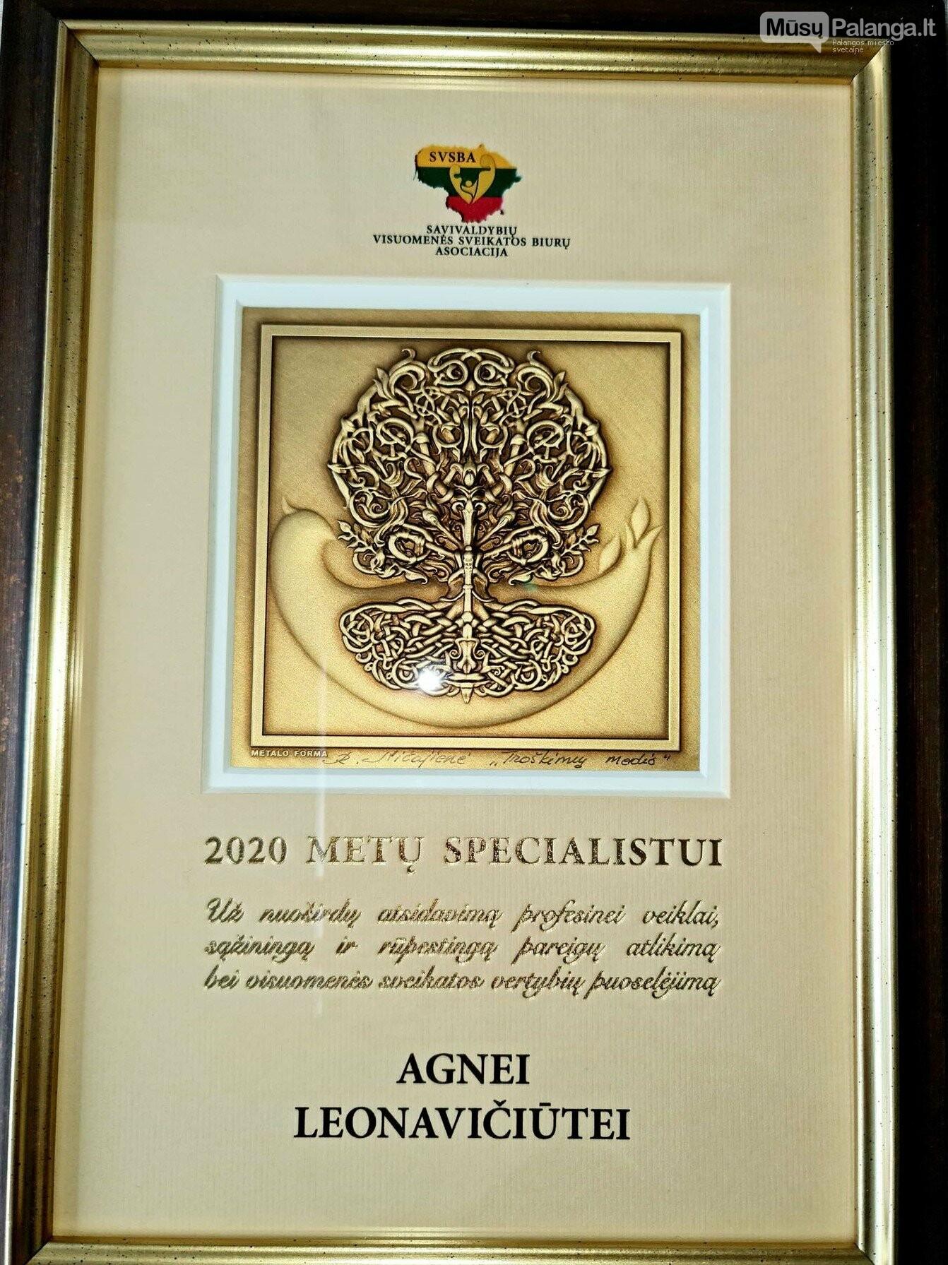 Apdovanota geriausia Palangos miesto savivaldybės visuomenės sveikatos biuro specialistė, nuotrauka-2