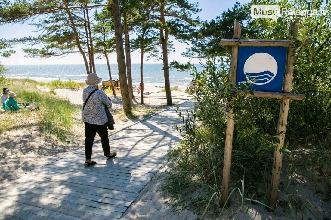 Palangos Birutės parko paplūdimyje ir vėl plevėsuos Mėlynoji vėliava, nuotrauka-1