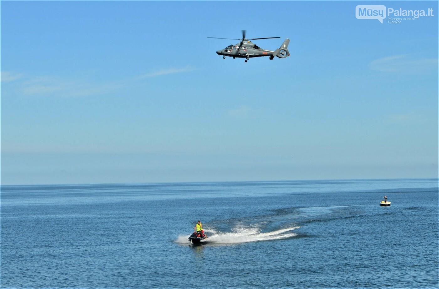 Prie Palangos jūros tilto imituota laivo avarija – vyko gelbėjimo darbų jūroje pratybos, nuotrauka-1