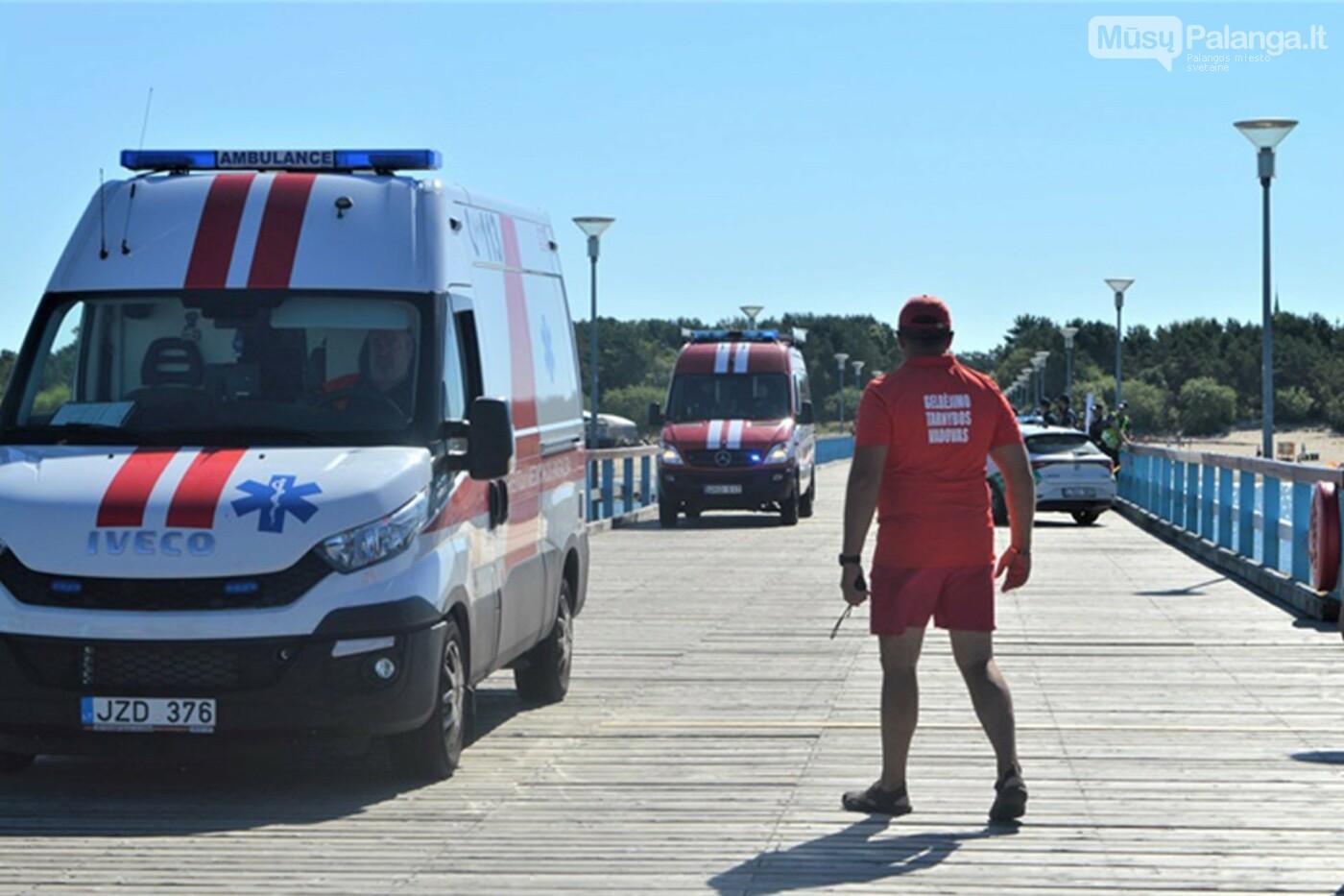 Prie Palangos jūros tilto imituota laivo avarija – vyko gelbėjimo darbų jūroje pratybos, nuotrauka-5
