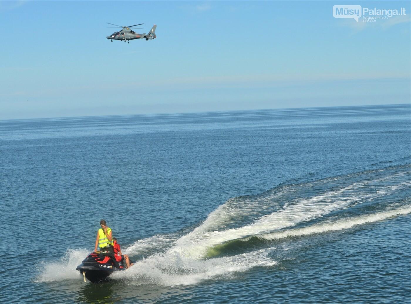 Prie Palangos jūros tilto imituota laivo avarija – vyko gelbėjimo darbų jūroje pratybos, nuotrauka-3