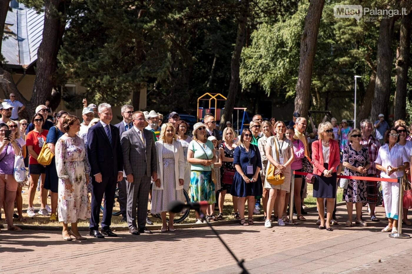 Skulptūros, skirtos Dž. J. Simpsonui ir Derybinei grupei dėl Palangos grąžinimo Lietuvai įamžinti, atidarymas, nuotrauka-15