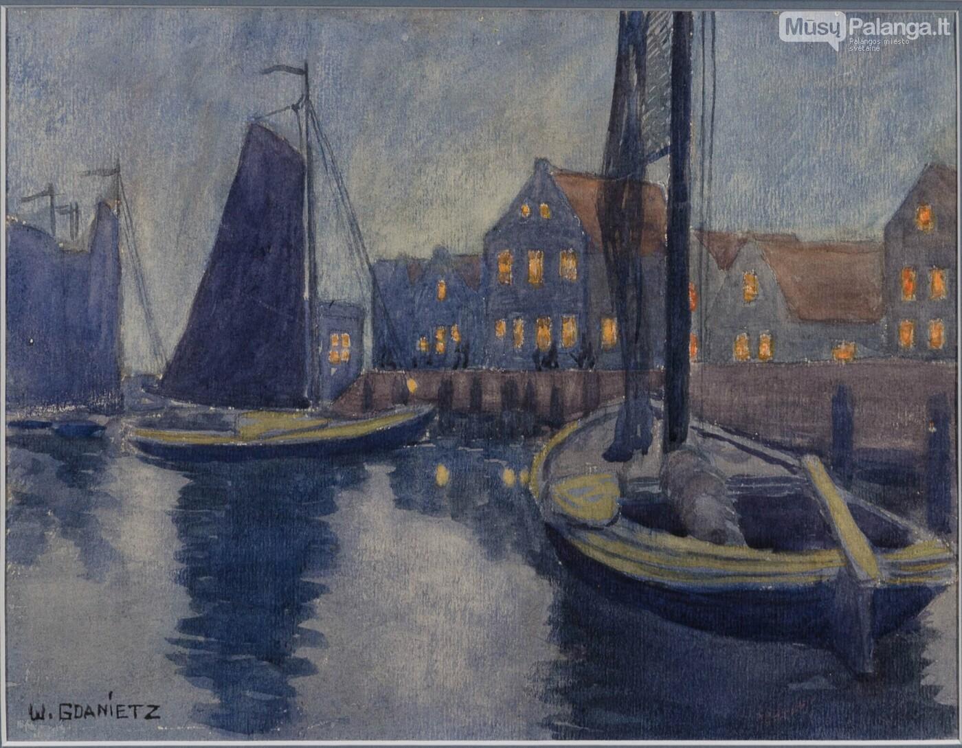 Wilhelmas Gdanietzas-Kurenai uoste (~1937), Vilniaus aukciono namų nuotr.