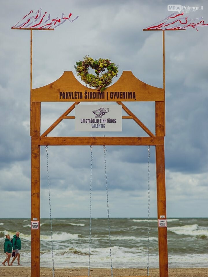 Palangoje – įspūdingos sūpynės ant jūros kranto, nuotrauka-1