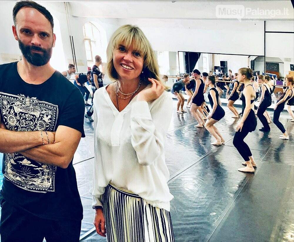 KVMT vyriausiasis choreografas Aurelijus Liškauskas ir baleto trupės meno vadovė Jelena Lebedeva. J.Lebedevos nuotr.