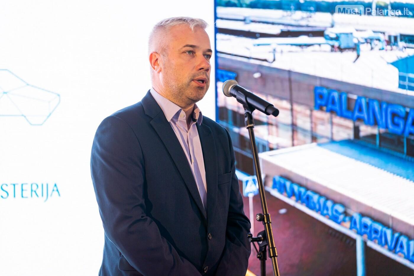 Susisiekimo ministras M. Skuodis paskelbė oficialią Palangos oro uosto rekonstrukcijos pradžią, nuotrauka-4