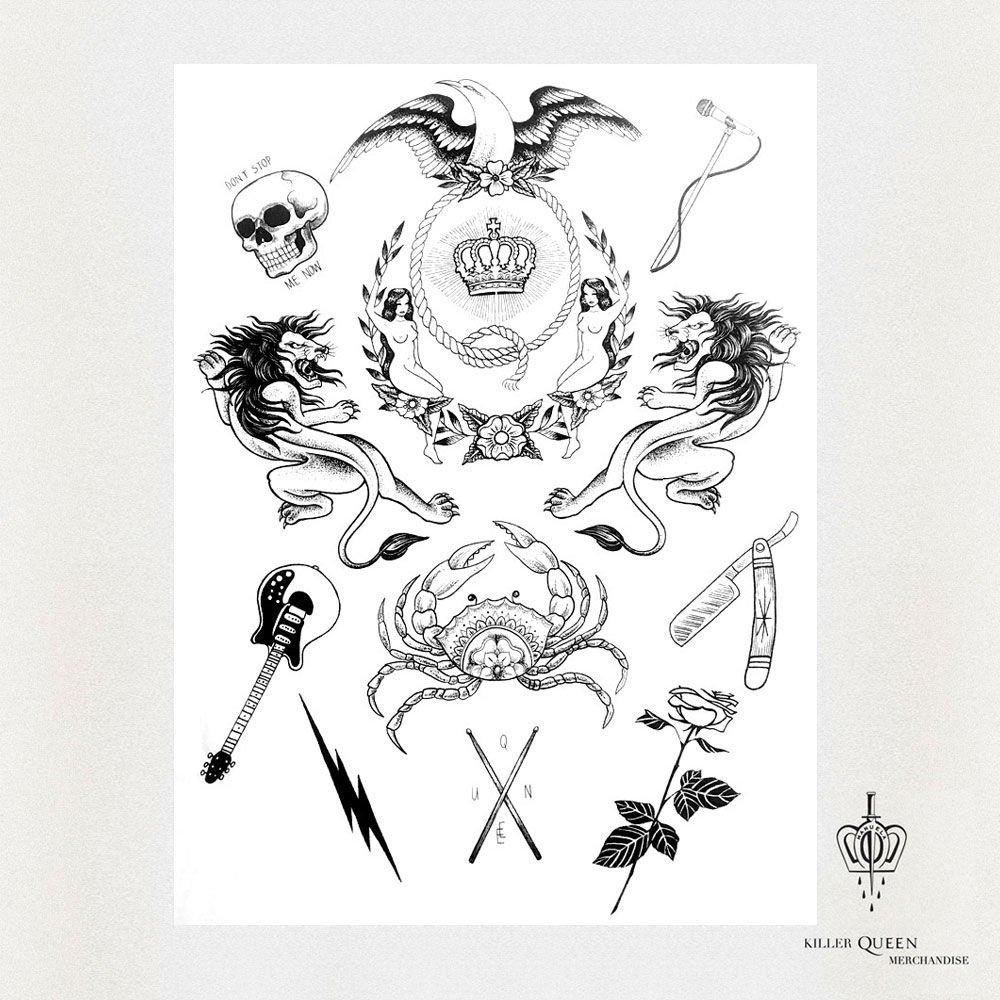 """Grupė """"Queen"""" ir garsi tatuiruočių meistrė pristatė išskirtinio dizaino kolekciją, nuotrauka-9"""