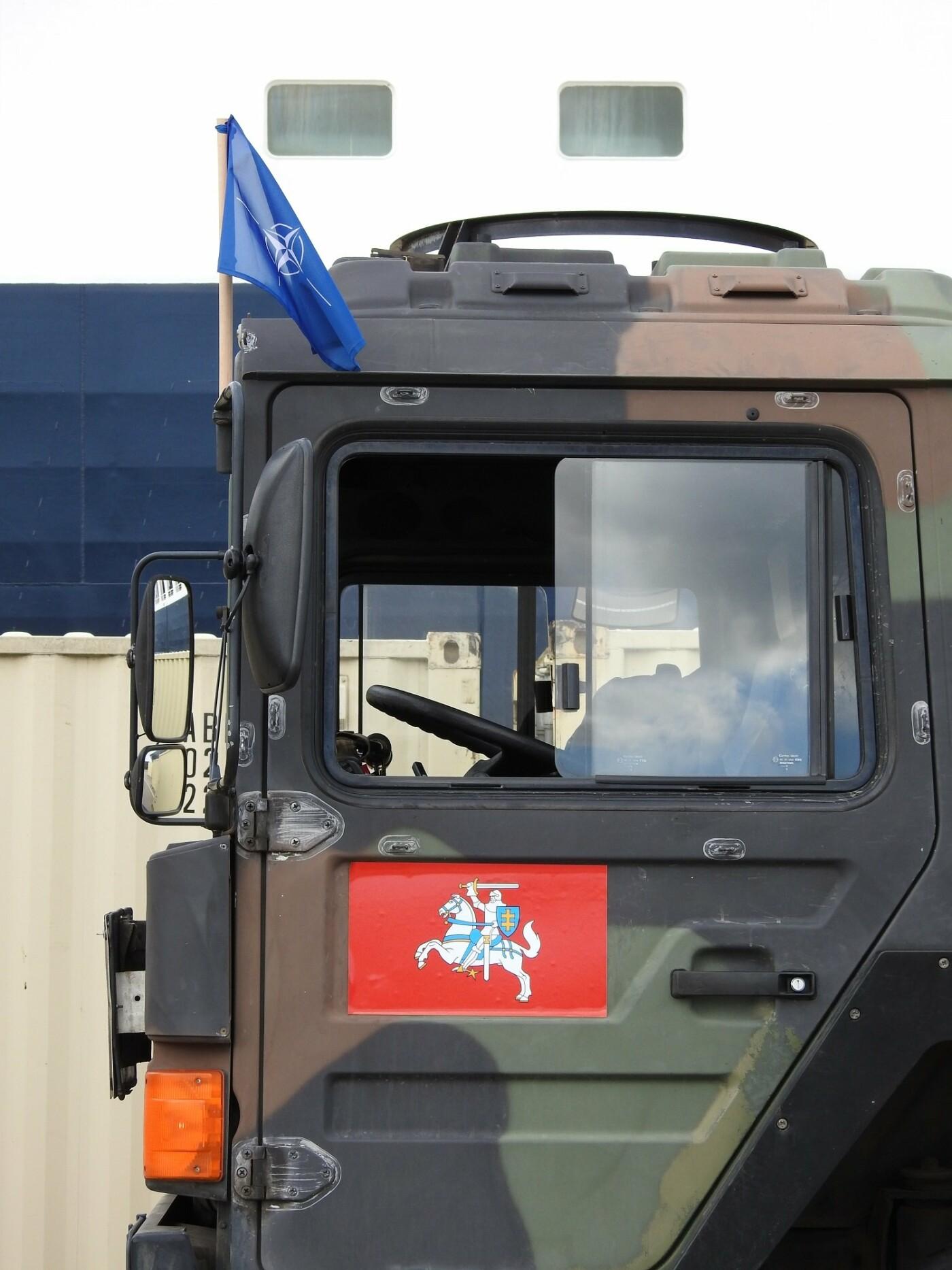 Belgijos kariuomenės konvojus pasipuošė Vyčiu , nuotrauka-6