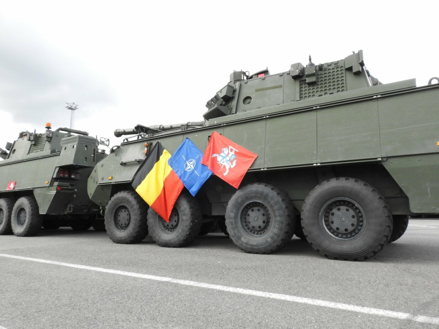 Belgijos kariuomenės konvojus pasipuošė Vyčiu , nuotrauka-3