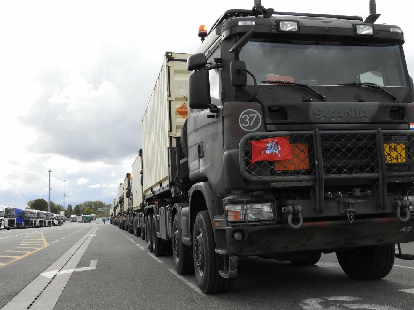 Belgijos kariuomenės konvojus pasipuošė Vyčiu , nuotrauka-4