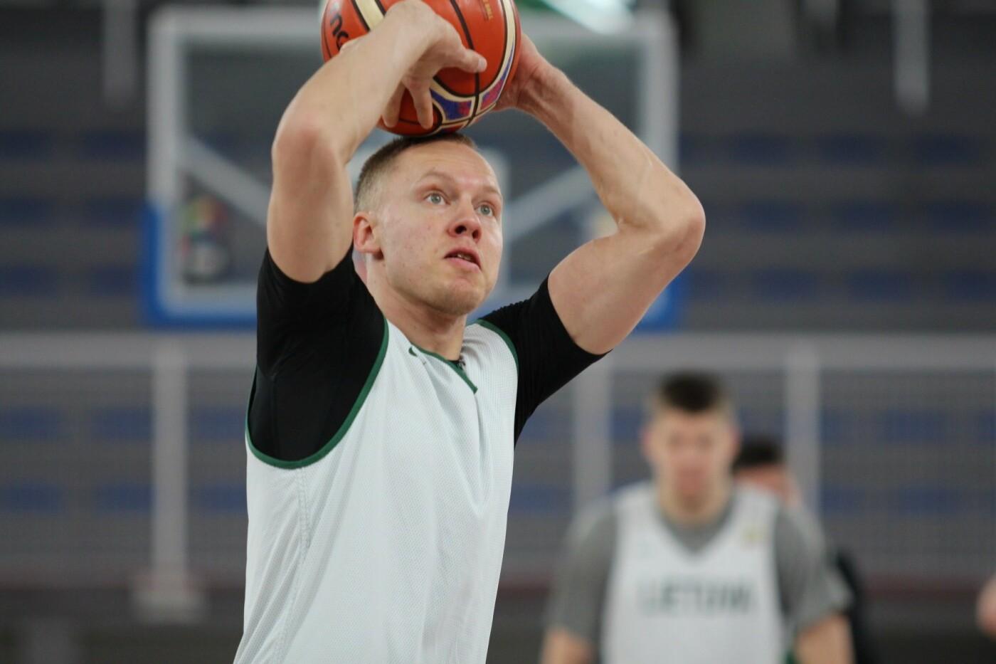 Lietuvos vyrų krepšinio rinktinė surengė vienintelę treniruotę Italijoje, nuotrauka-8