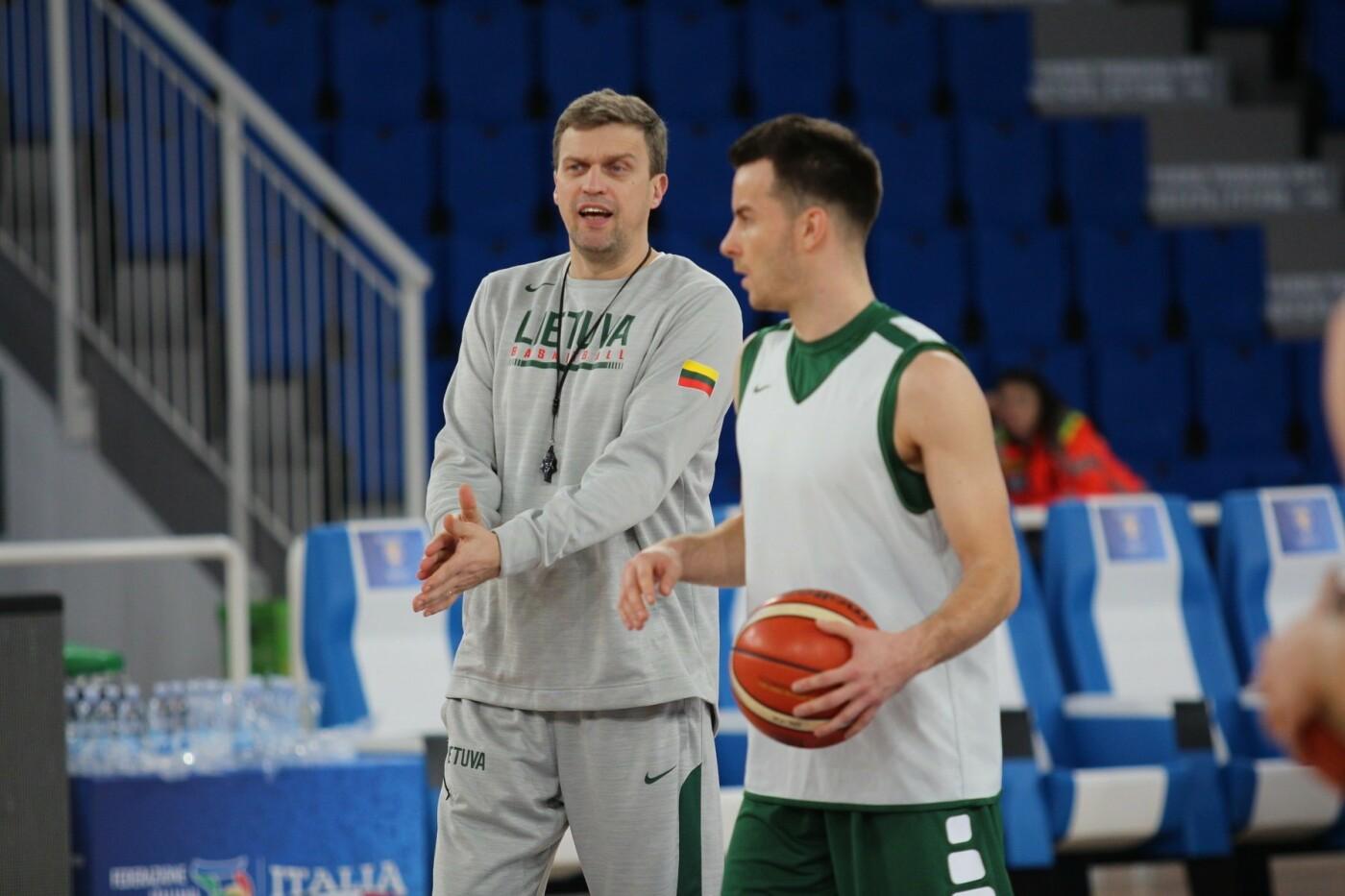 Lietuvos vyrų krepšinio rinktinė surengė vienintelę treniruotę Italijoje, nuotrauka-22