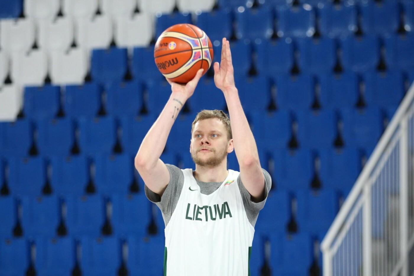 Lietuvos vyrų krepšinio rinktinė surengė vienintelę treniruotę Italijoje, nuotrauka-24