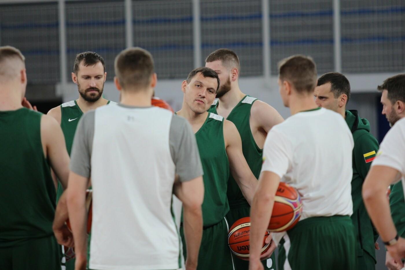 Lietuvos vyrų krepšinio rinktinė surengė vienintelę treniruotę Italijoje, nuotrauka-4