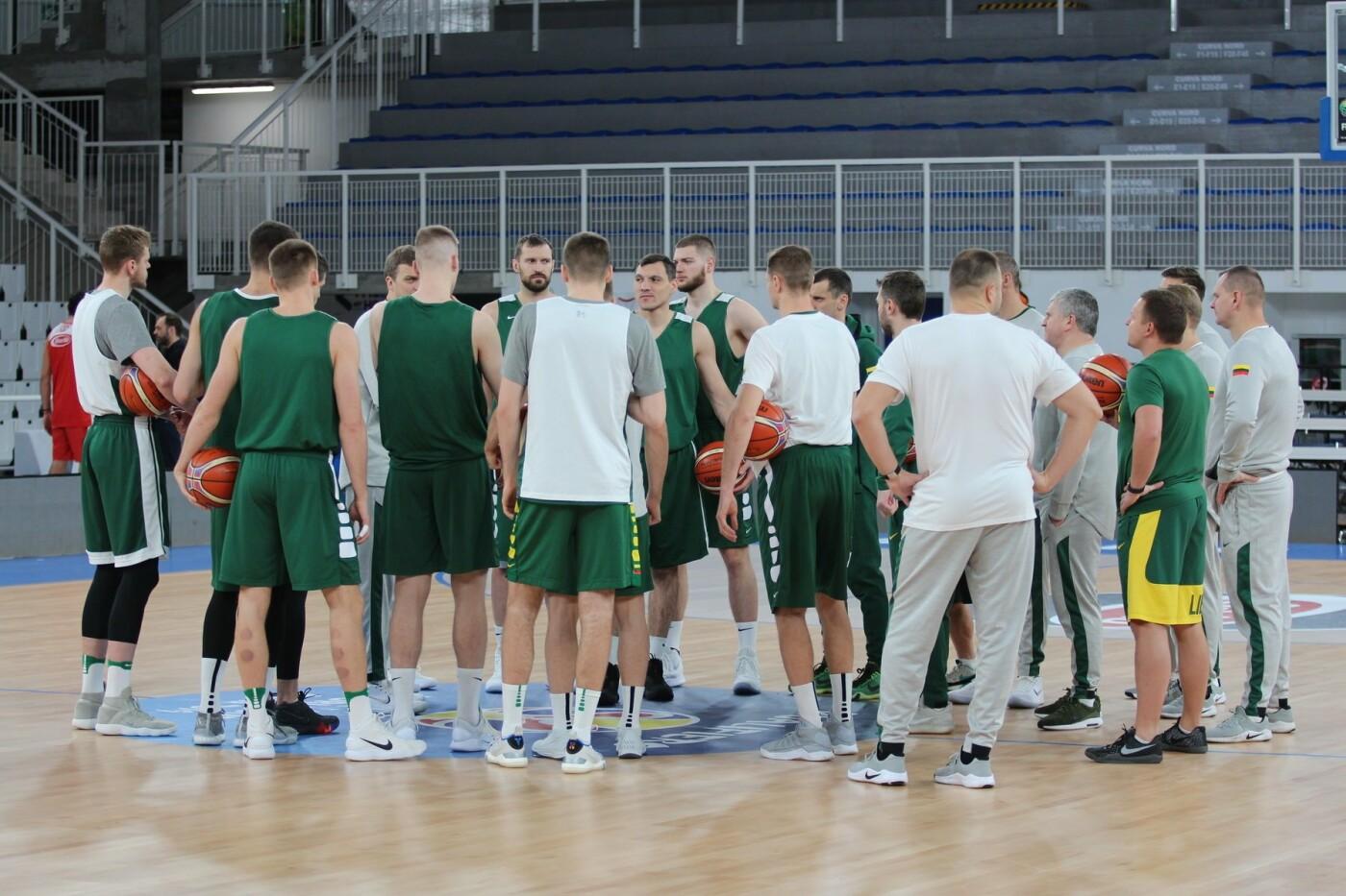 Lietuvos vyrų krepšinio rinktinė surengė vienintelę treniruotę Italijoje, nuotrauka-19
