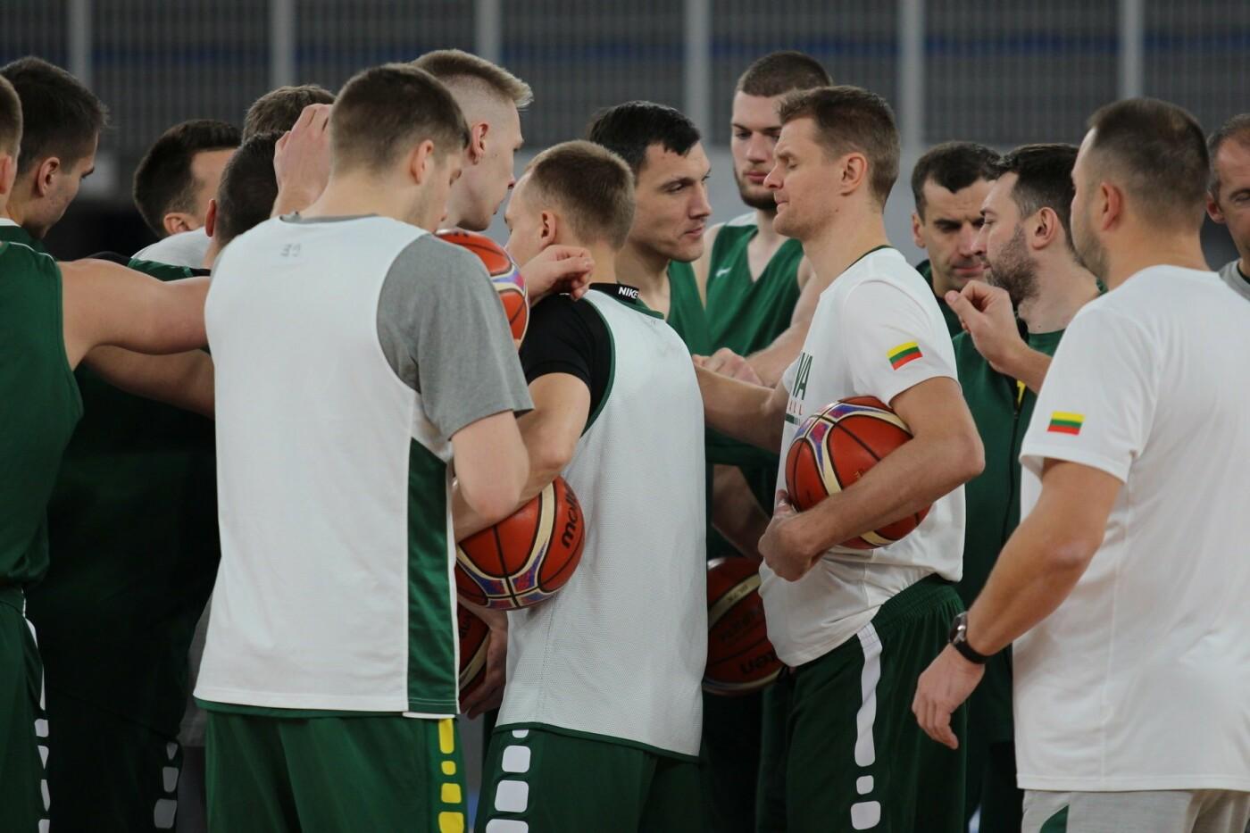Lietuvos vyrų krepšinio rinktinė surengė vienintelę treniruotę Italijoje, nuotrauka-5