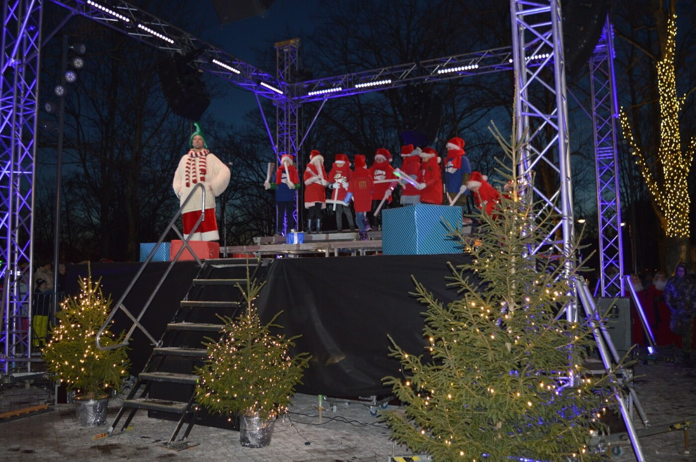 Palanga įžiebė eglę ir suspindo tūkstančiais kalėdinių šviesų, nuotrauka-41