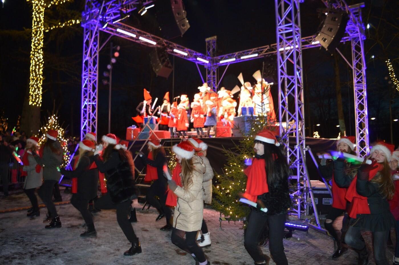 Palanga įžiebė eglę ir suspindo tūkstančiais kalėdinių šviesų, nuotrauka-40