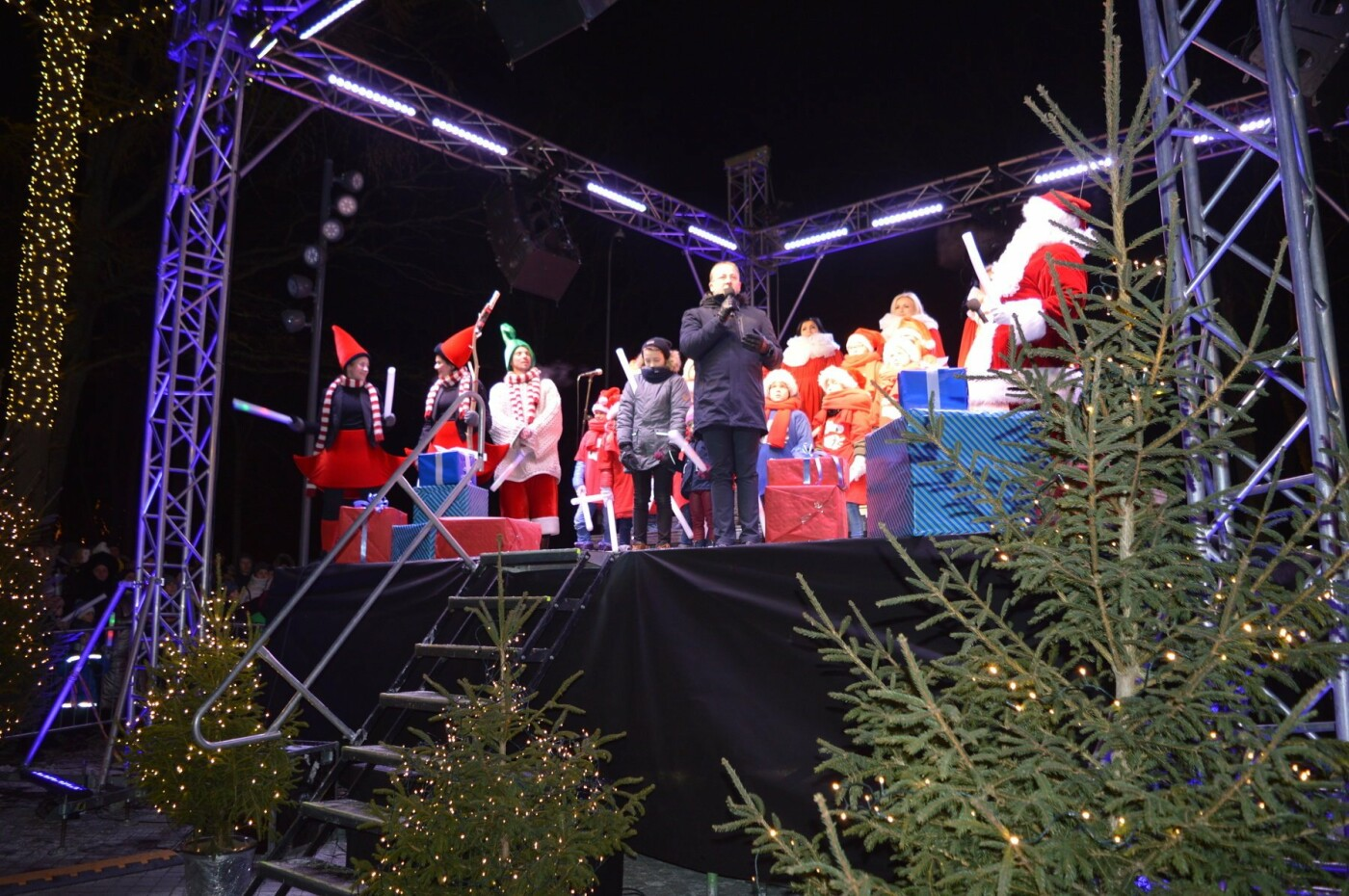 Palanga įžiebė eglę ir suspindo tūkstančiais kalėdinių šviesų, nuotrauka-39