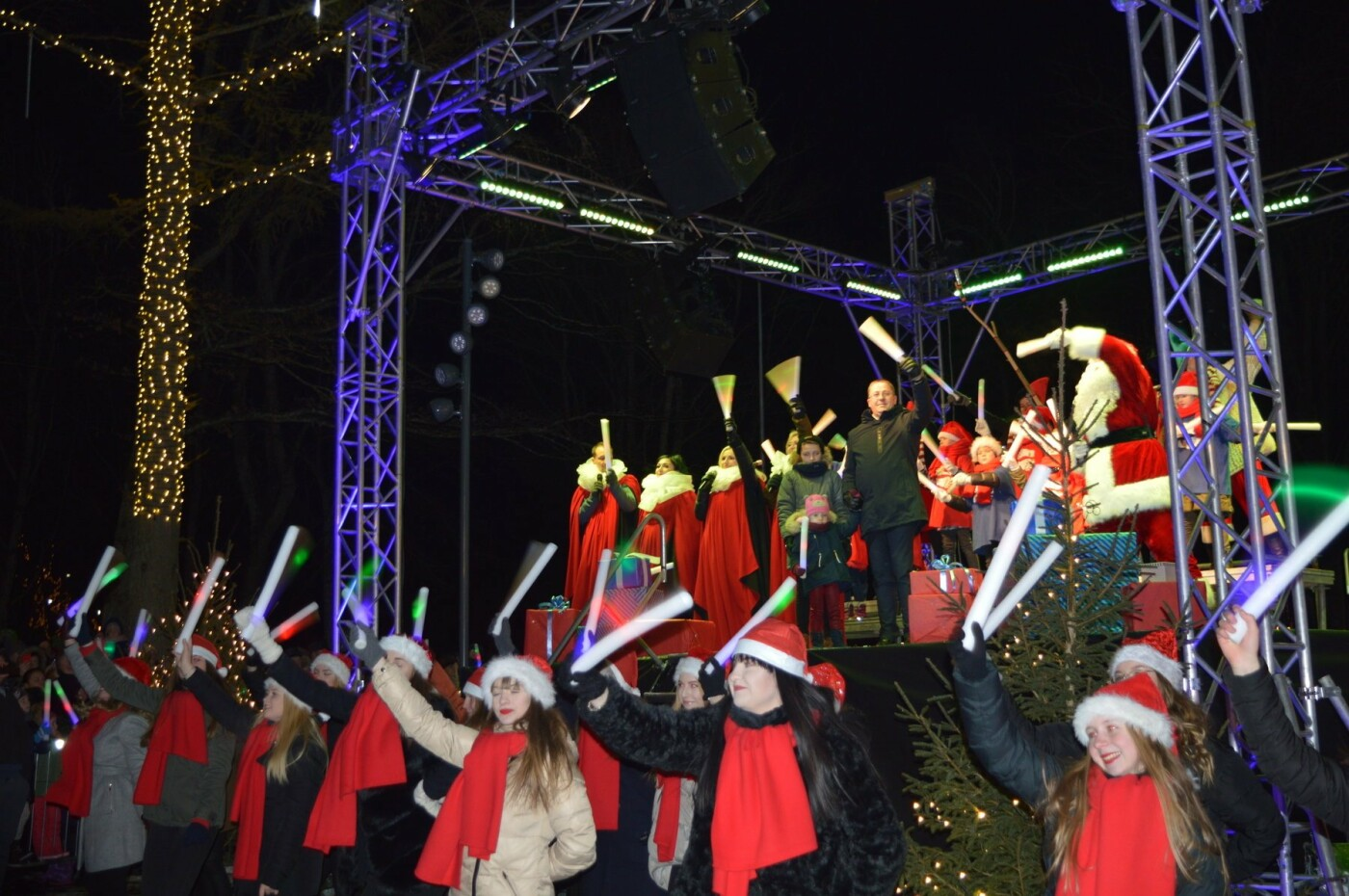Palanga įžiebė eglę ir suspindo tūkstančiais kalėdinių šviesų, nuotrauka-72