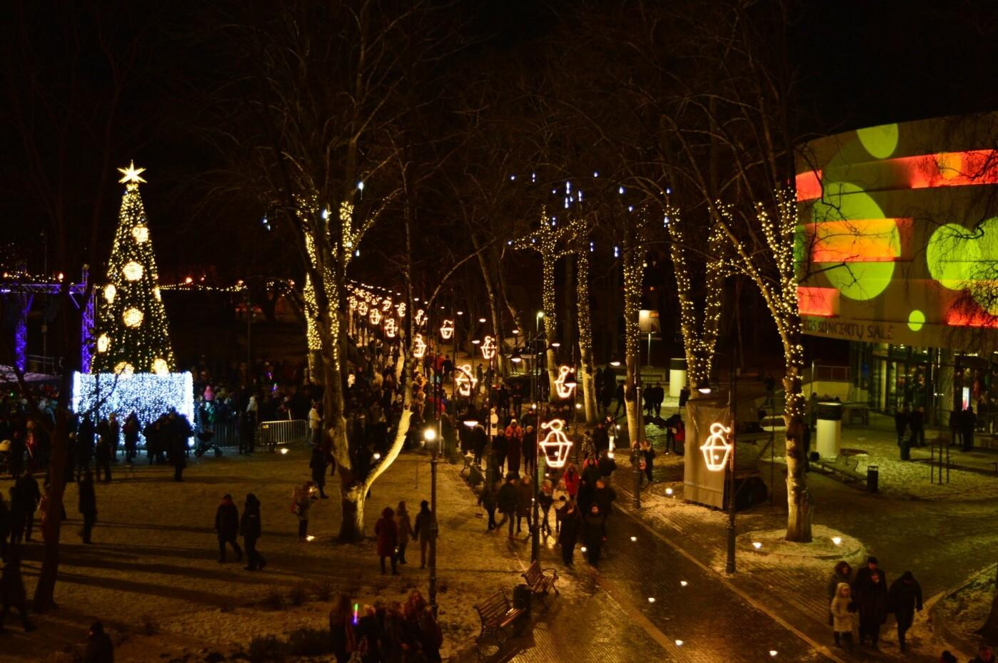Palanga įžiebė eglę ir suspindo tūkstančiais kalėdinių šviesų, nuotrauka-23
