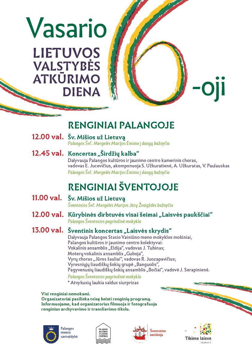 Lietuvos valstybės atkūrimo dienos Vasario 16-osios renginiai Palangoje, nuotrauka-1