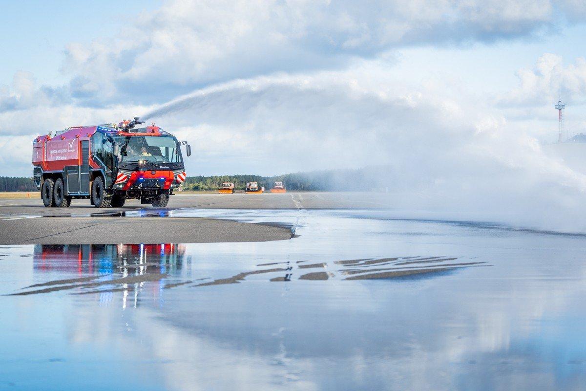 Palangos oro uoste pristatytas naujas priešgaisrinės tarnybos automobilis: analogišką techniką naudoja..., nuotrauka-2, Martyno Jaugelavičiaus nuotr.