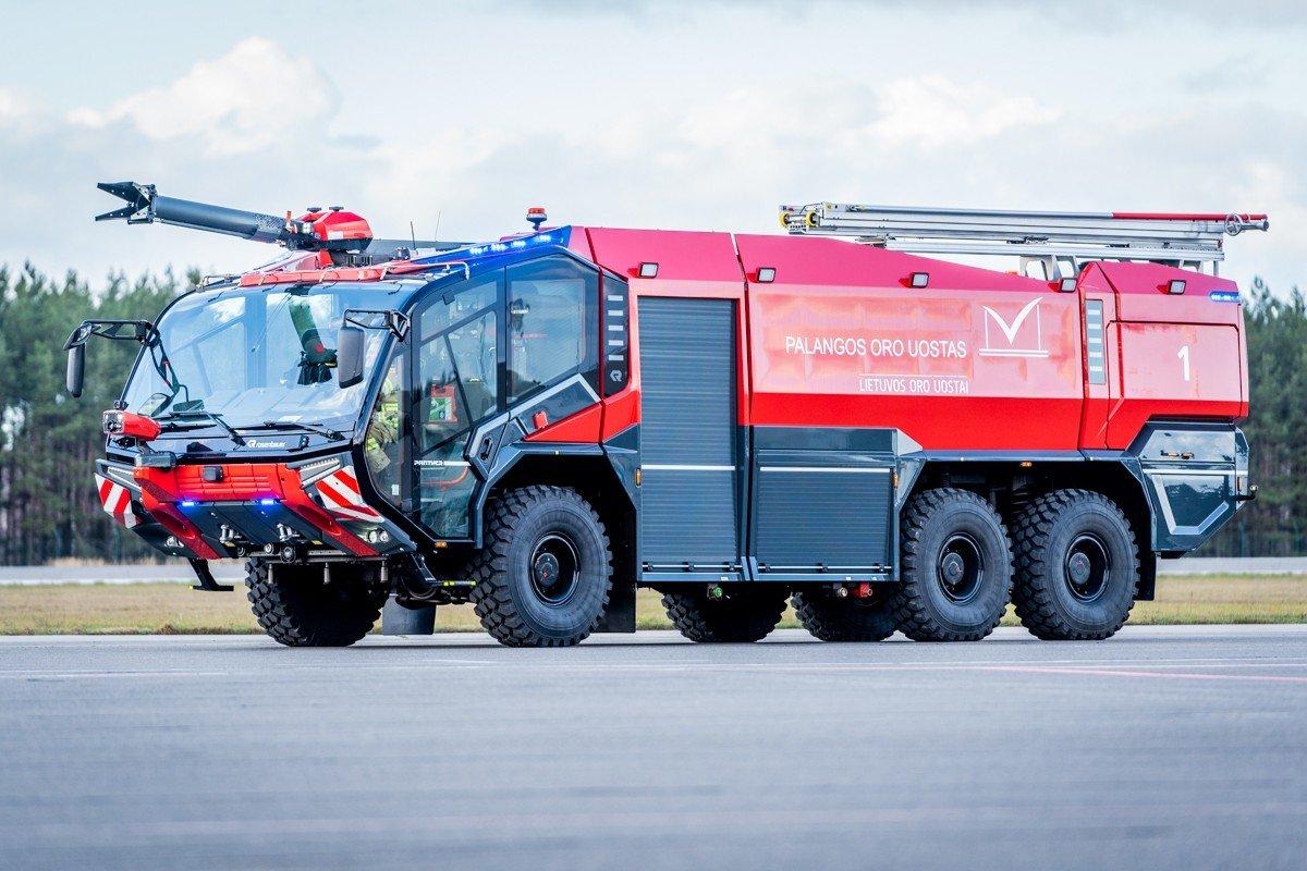 Palangos oro uoste pristatytas naujas priešgaisrinės tarnybos automobilis: analogišką techniką naudoja..., nuotrauka-6, Martyno Jaugelavičiaus nuotr.