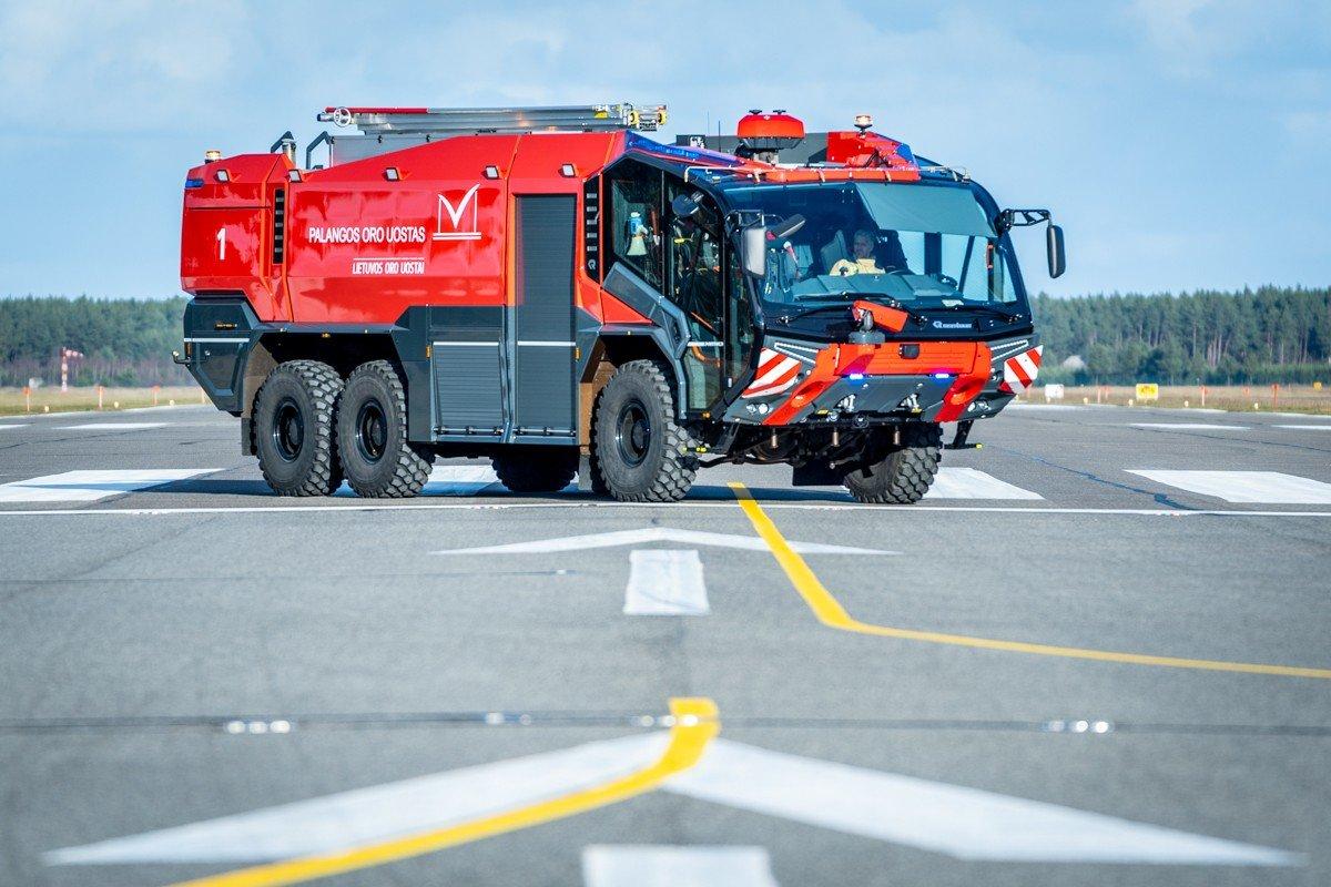 Palangos oro uoste pristatytas naujas priešgaisrinės tarnybos automobilis: analogišką techniką naudoja..., nuotrauka-8, Martyno Jaugelavičiaus nuotr.
