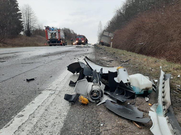 Auto įvykis ant viaduko kelyje Kretinga – Palanga. Slidu būkite atsargus!, nuotrauka-3, Ritos Nagienės nuotr.