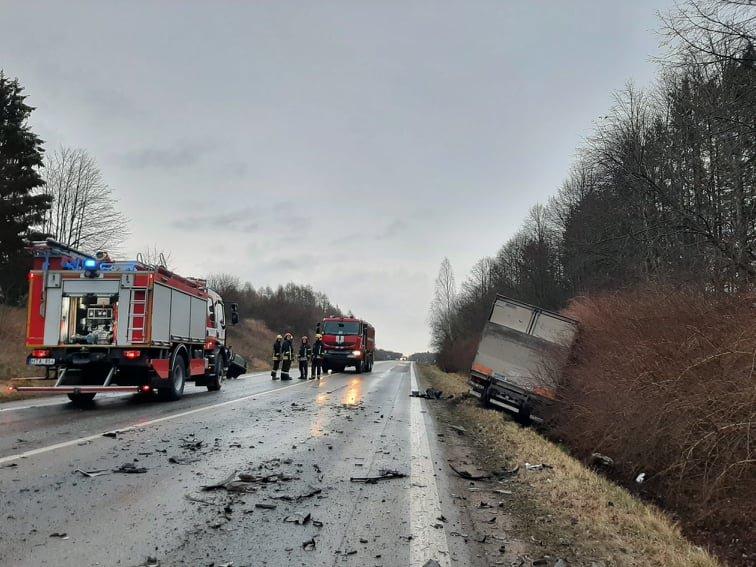 Auto įvykis ant viaduko kelyje Kretinga – Palanga. Slidu būkite atsargus!, nuotrauka-5, Ritos Nagienės nuotr.