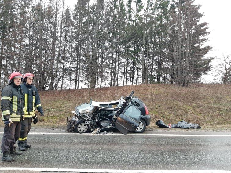Auto įvykis ant viaduko kelyje Kretinga – Palanga. Slidu būkite atsargus!, nuotrauka-9, Ritos Nagienės nuotr.